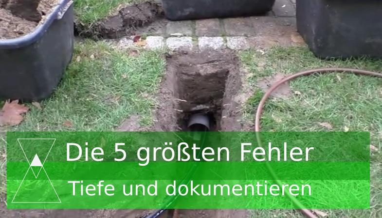 5 größten Fehler Gartenbewässerung: Einbautiefe falsch gewählt